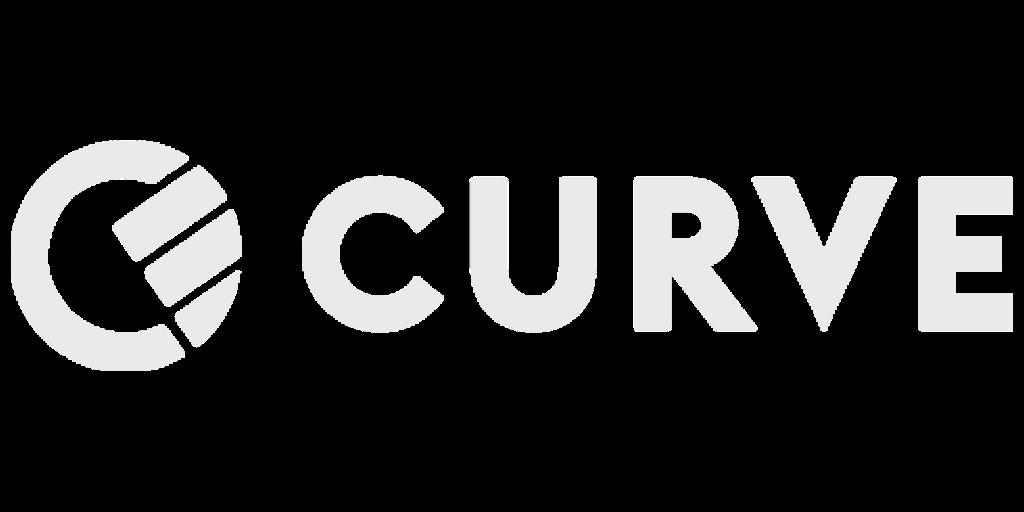 Curve logo white